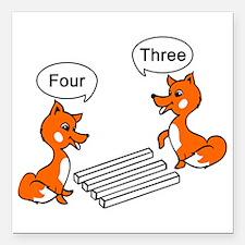 "Optical illusion Trick Square Car Magnet 3"" x 3"""