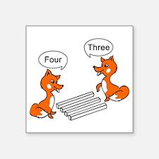 """Optical illusion Trick Square Sticker 3"""" x 3"""""""