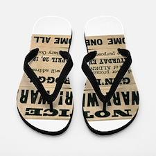 Civil War No. 7 Flip Flops