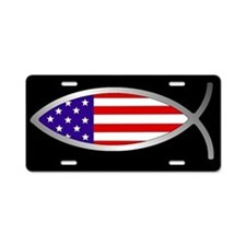 Flag FishAluminum License Plate