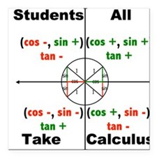 "All Students Take Calculus Square Car Magnet 3"" x"
