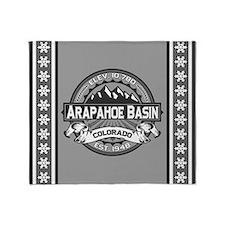 Arapahoe Basin Grey Throw Blanket