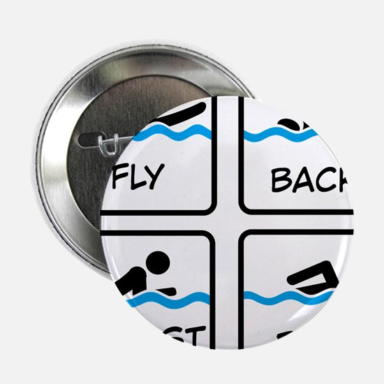 "swimming 2.25"" Button"
