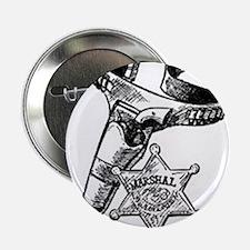 """Marshal Badge & Pistol In Holder 2.25"""" Button"""