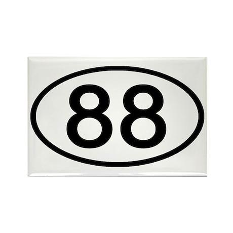 Number 88 Oval Rectangle Magnet