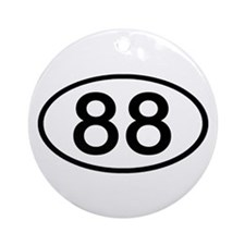 Number 88 Oval Ornament (Round)