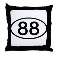 Number 88 Oval Throw Pillow
