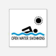 open water swimming Sticker