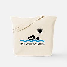 open water swimming Tote Bag