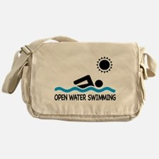 open water swimming Messenger Bag
