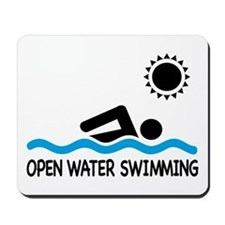 open water swimming Mousepad