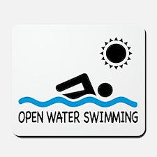 open water swimming Mousepad