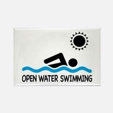 open water swimming Rectangle Magnet
