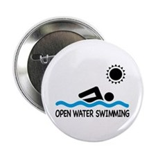 """open water swimming 2.25"""" Button"""