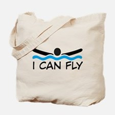 butterfly swimming Tote Bag