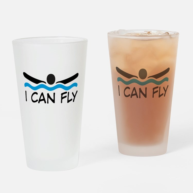butterfly swimming Drinking Glass