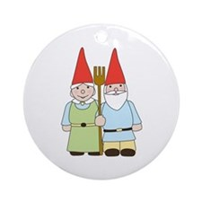 Gnome Couple Ornament (Round)