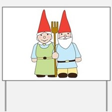 Gnome Couple Yard Sign