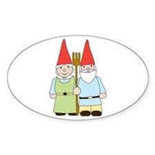 Gnome Couple Decal
