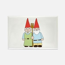Gnome Couple Rectangle Magnet