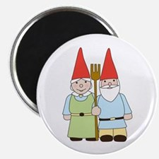 Gnome Couple Magnet