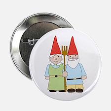 "Gnome Couple 2.25"" Button"