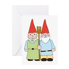 Gnome Couple Greeting Card