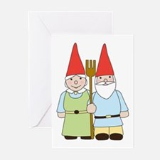 Gnome Couple Greeting Cards (Pk of 10)