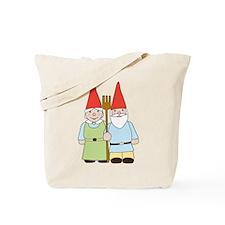Gnome Couple Tote Bag