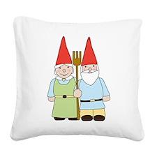 Gnome Couple Square Canvas Pillow