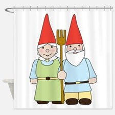 Gnome Couple Shower Curtain