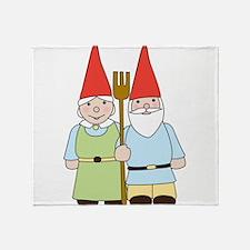 Gnome Couple Throw Blanket