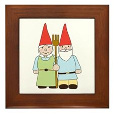 Gnome Couple Framed Tile