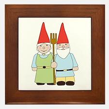 Gnome Couple Framed Tile