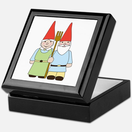 Gnome Couple Keepsake Box