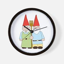 Gnome Couple Wall Clock