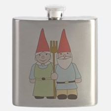 Gnome Couple Flask