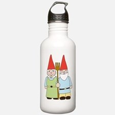 Gnome Couple Water Bottle