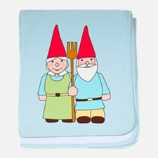 Gnome Couple baby blanket
