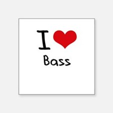 I Love Bass Sticker