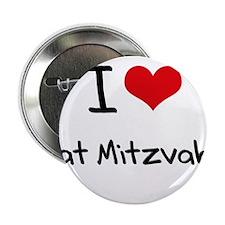 """I Love Bat Mitzvahs 2.25"""" Button"""