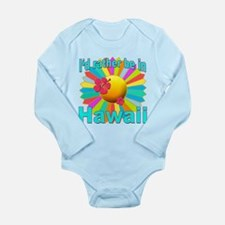Tropical I'd Rather be in Hawaii Long Sleeve Infan