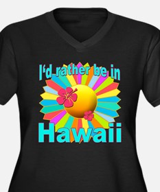 Tropical I'd Rather be in Hawaii Women's Plus Size