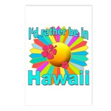 Tropical I'd Rather be in Hawaii Postcards (Packag