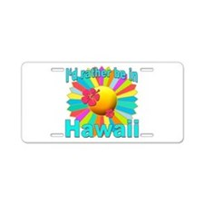 Tropical I'd Rather be in Hawaii Aluminum License