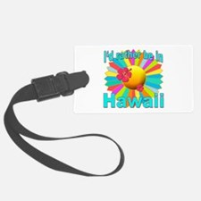 Tropical I'd Rather be in Hawaii Luggage Tag