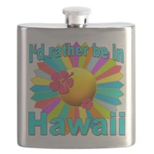 Tropical I'd Rather be in Hawaii Flask