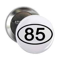 Number 85 Oval Button