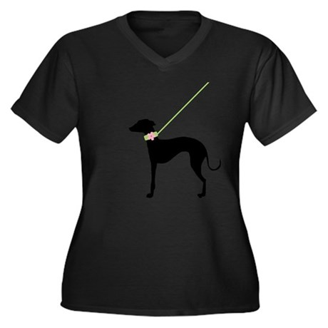 Black Dog w/ Flower Plus Size T-Shirt
