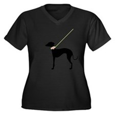 Black Dog w/ Flower Plus Size T-Shirt
